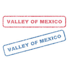 Valley of mexico textile stamps vector
