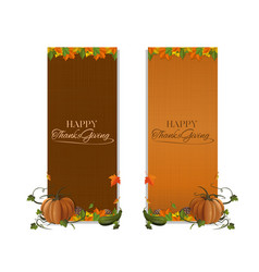 Vertical banner set for thanksgiving vector