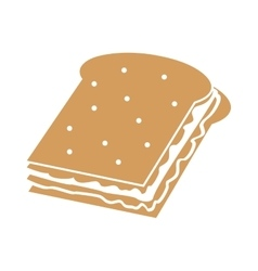 Sandwich snack lunch design vector