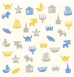 Scandinavian seamless pattern vector image