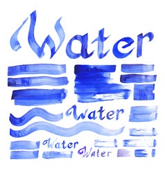 Water decorative elements collection vector