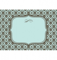 Frame and damask pattern vector