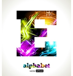 Design abstract letter e vector