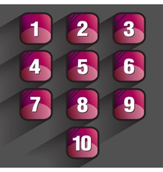Set of square buttons vector