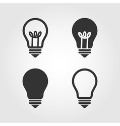 Light bulb icons set flat design vector