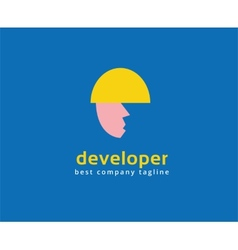 Abstract developer logo icon concept logotype vector