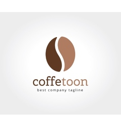 Abstract coffe bean logotype concept isolated on vector