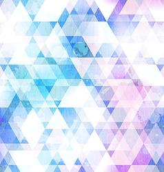 Sky blue triangle seamless texture with grunge vector
