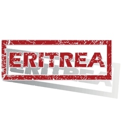 Eritrea outlined stamp vector