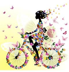 bicycle romantic vector image