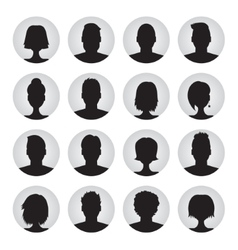 set of user profile  icons vector image