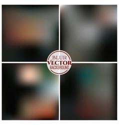 Blurred background set vector image