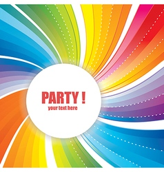 Abstract banner with strips for party vector