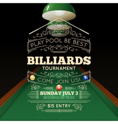 Billiards poster vector