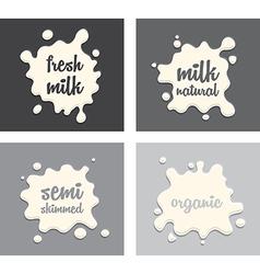 milk splodges group vector image
