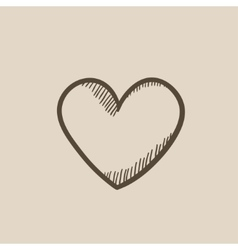 Heart sign sketch icon vector