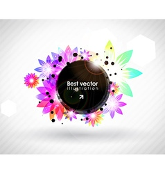 Abstract Fluorescent Floral Background vector image