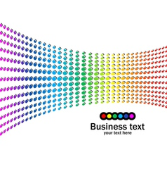 Abstract rainbow colours background vector image vector image