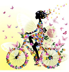 bicycle romantic vector image