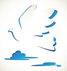 Bird paper cut vector