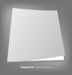 Brochure or magazine mockup on gray vector