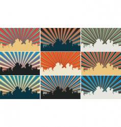 color sky vector image