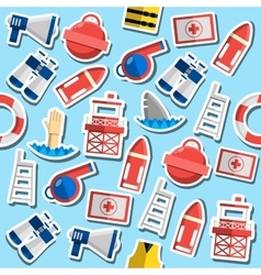Colored life guard pattern vector