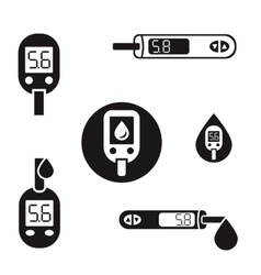 Diabetes Glucometer Icons 08 A vector image vector image