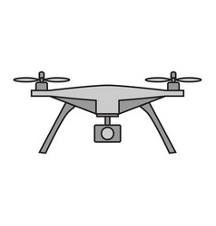 drone icon on white background vector image vector image