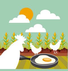 farm concept design vector image