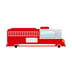 fire truck isolated transport on white background vector image vector image