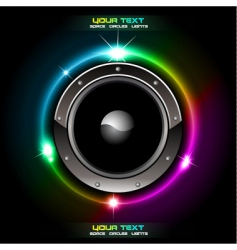 futuristic speaker background vector image vector image