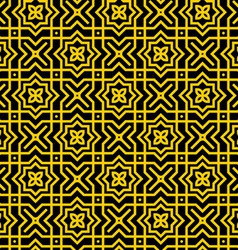 Gold persian pattern vector