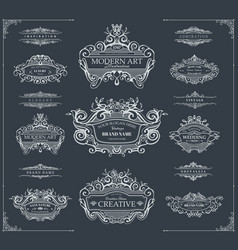 hand drawn wreaths vector image vector image