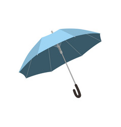 isolated blue open umbrella vector image