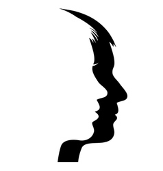 Man and woman s face vector image