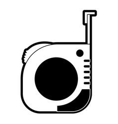 measure tape icon black silhouette vector image vector image