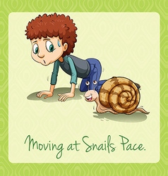 Moving at snails pace vector image