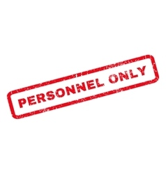 Personnel Only Rubber Stamp vector image