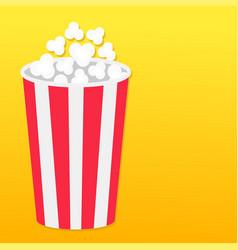 Popcorn round box left side template movie cinema vector