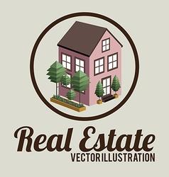 Real estate design over beige background vector image
