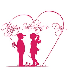 Romantic story of Valentines Day vector image vector image