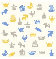 Scandinavian seamless pattern vector image vector image