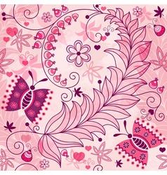 Seamless spring grunge pattern vector image