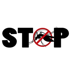 Stop sign for mosquito vector image vector image