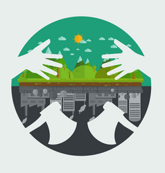 What will you choose concept eco friendly or vector