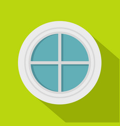 white round window icon flat style vector image