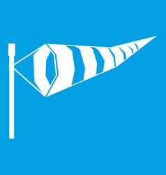 Windsock icon white vector