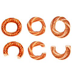 Turkish bagels vector