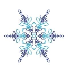 Hand-drawn doodles natural snowflake zentangle vector